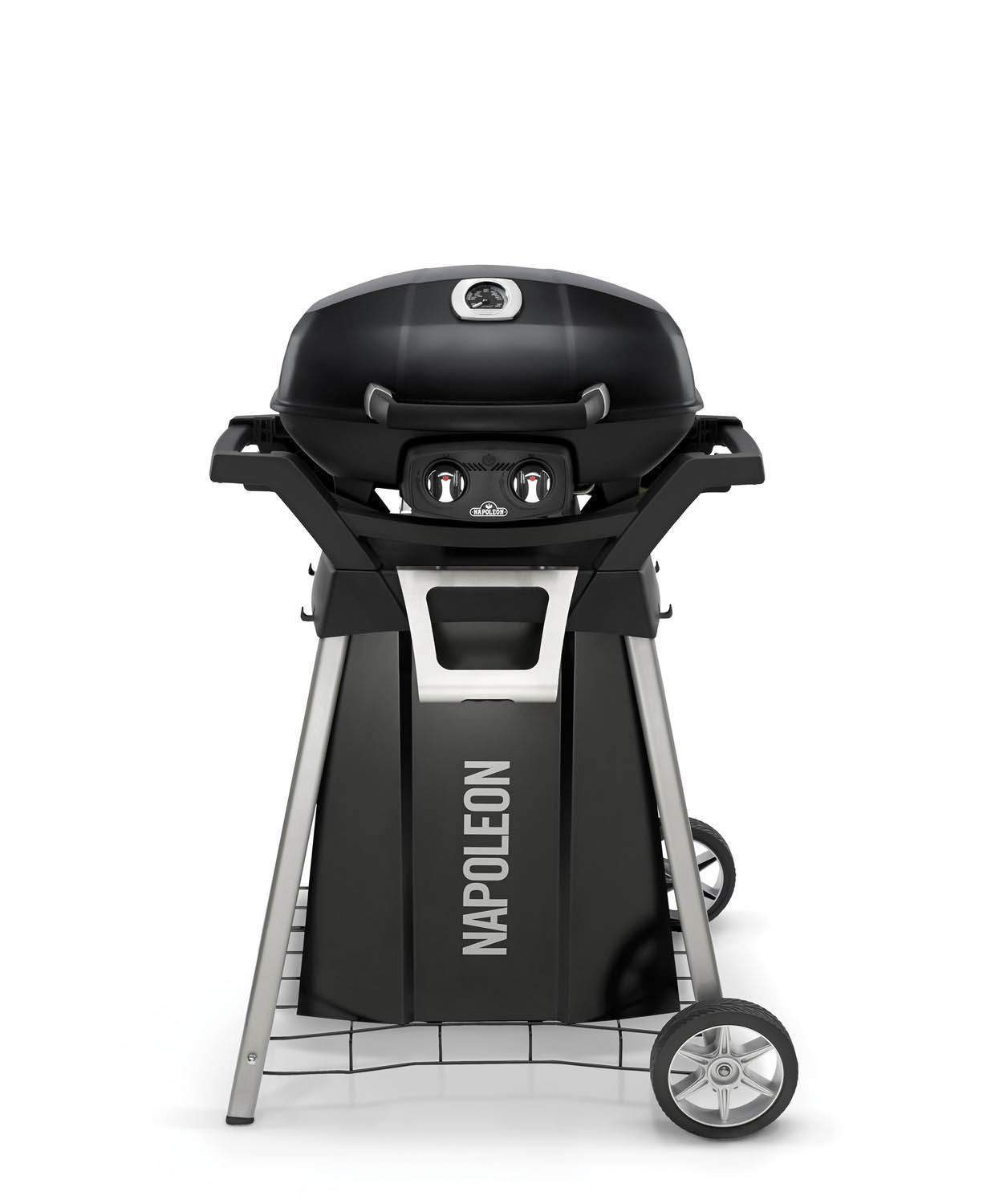 1.	Napoleon TravelQ Pro Portable Gas Grill With Cart And Side Shelf Kit
